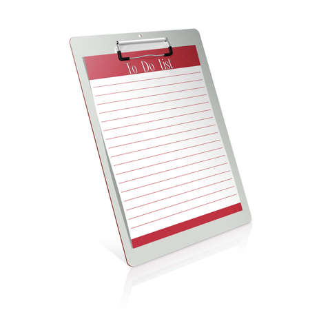 3d clipboard - To Do List Stock Photo - 9029104