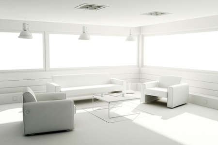 3d clay render of a modern interior design Stock Photo - 9029153