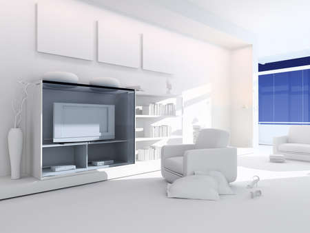 3d render of a modern interior design Stock Photo - 9029217