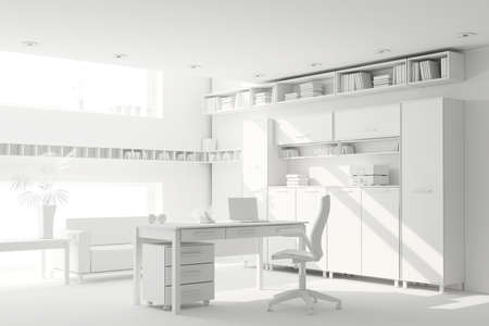 3d clay render of a modern interior design Stock Photo - 9088372