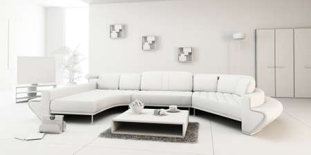3d render of a modern interior design Stock Photo - 9208978