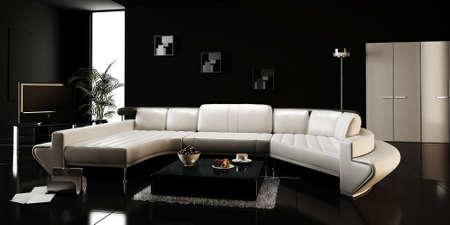 3d render of a modern interior design Stock Photo - 9208954