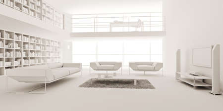 3d render of a modern interior design Stock Photo - 9209249