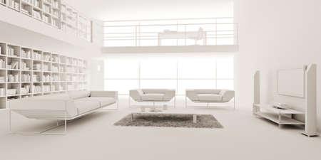 3d render of a modern interior design Stock Photo - 9209249
