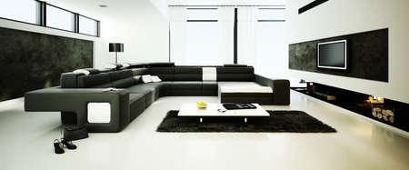 3d render of a modern interior design photo