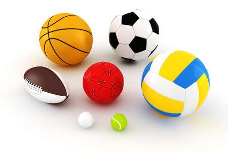 3d pack render - sport balls photo