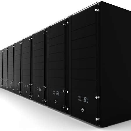 3d server - datacenter, on white photo