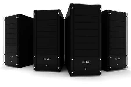 3d server - data center, on white photo