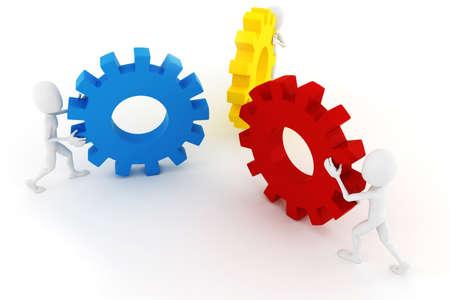 hombre empujando: 3D hombre empujando ruedas ghear