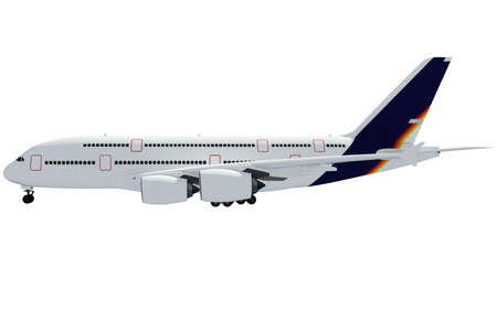 3d airplane on white background photo
