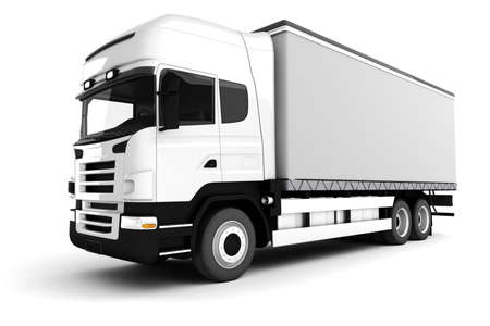 camion: camion blanche 3D