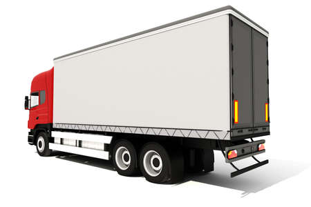 3d truck on white background Stock Photo - 9345453