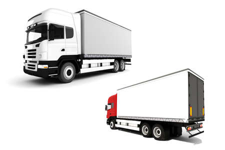 3d truck on white background Stock Photo - 9345441
