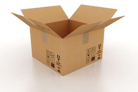 ship package: 3d cardboard box
