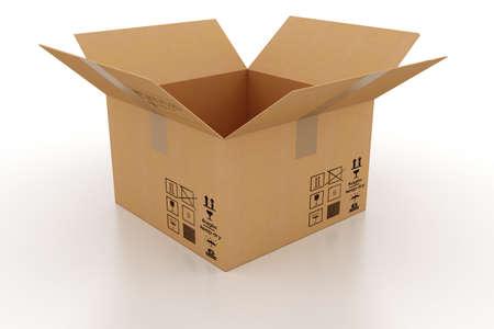 pappkarton: 3D Karton Lizenzfreie Bilder