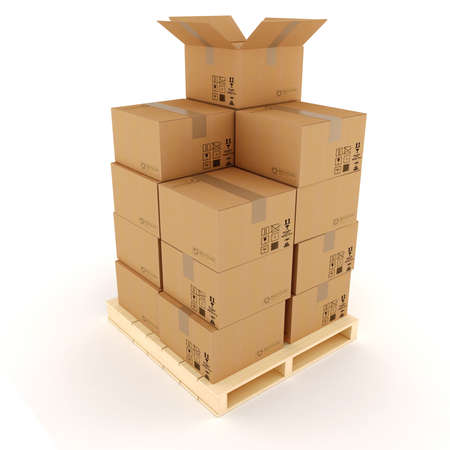 3d cardboard boxes photo