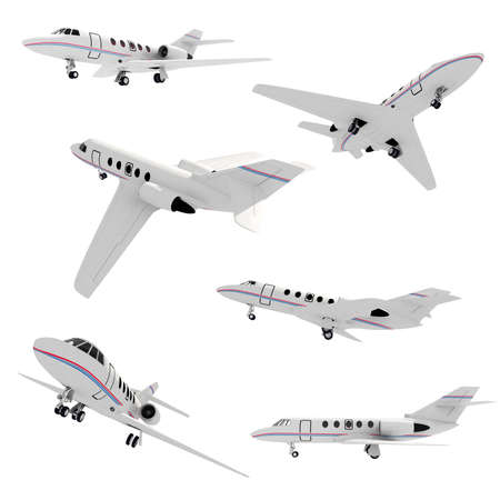 3d airplane pack on white background photo