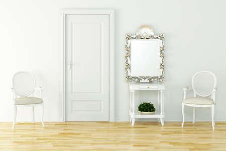 3d render of a vintage interior design photo