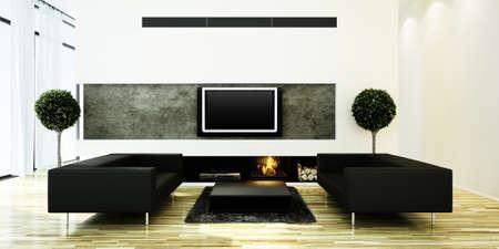 3d render of a modern inter design  Stock Photo - 9422315