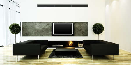 3d render of a modern interior design  Stock Photo - 9422315