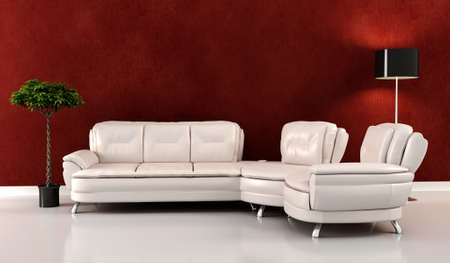 3d render of a modern interior design Stock Photo - 9422311