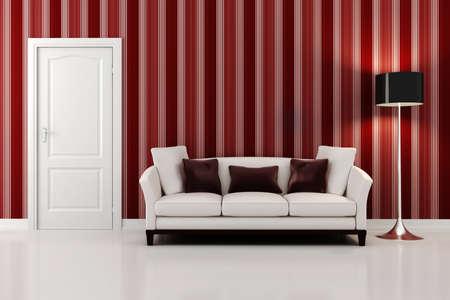 3d render of a modern inter design  Stock Photo - 9422452