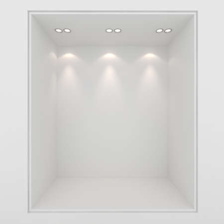 boutique display: 3d render of an empty presentation showase