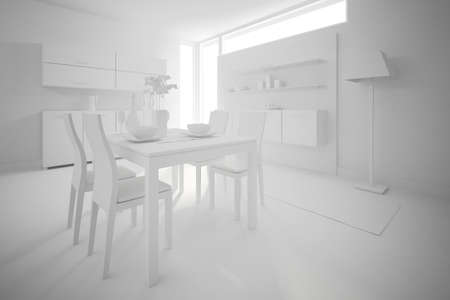 3d clay render of a modern interior design Stock Photo - 9502012