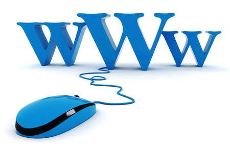 3d world wide web concept photo