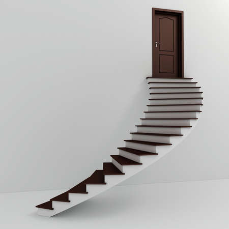 3d stairs going up photo