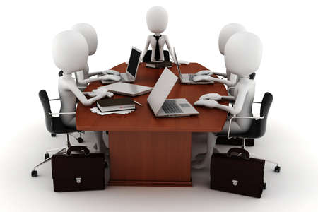 3d man business meeting Stock Photo - 9559254