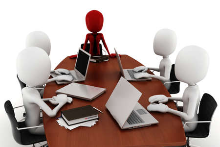 3d man business meeting Stock Photo - 9559259