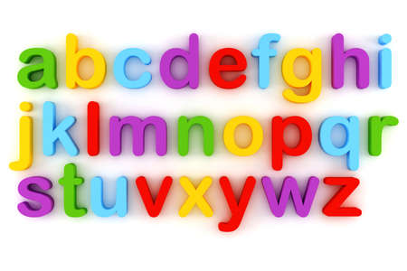 iron fun: 3d colorful letter, on white background