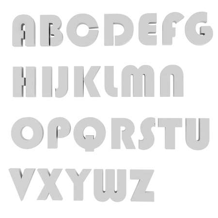 white bacground: 3d grey  letters, on white bacground