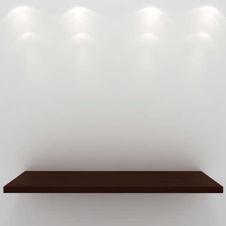 3d render of an empty presentation shelf Stock Photo - 9669576