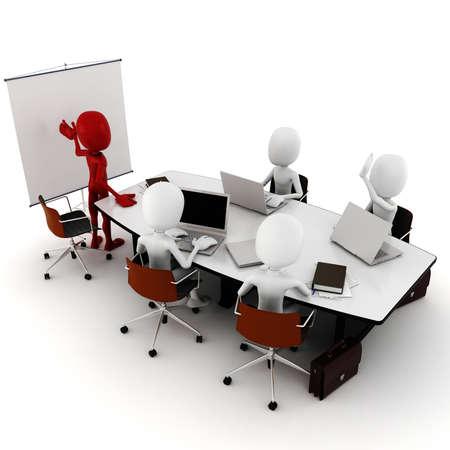 communicate: 3d man business meeting