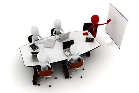 3d man business meeting Stock Photo - 9734830