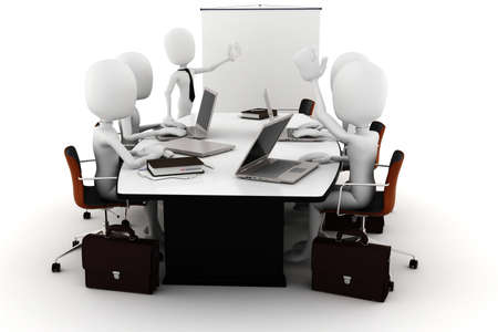 3d man business meeting photo
