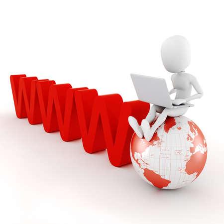 news online: 3d man global business