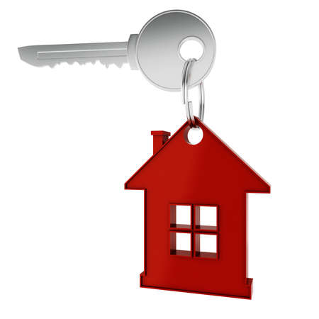 3D home key render concept Stock Photo - 9820334