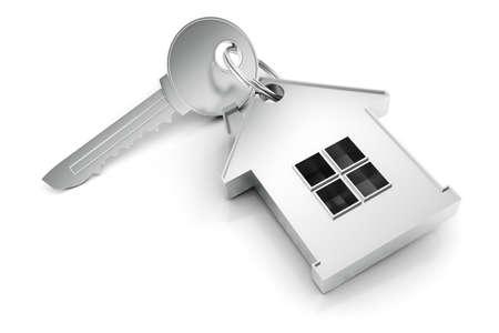 secure home: 3D home key render concept