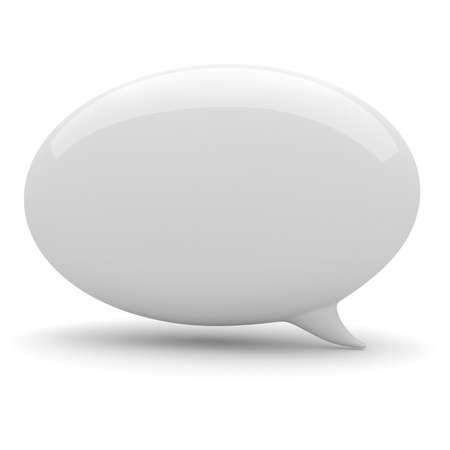 3d bubble praten, op een witte achtergrond