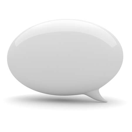 communicating: 3d bubble talk, on white background