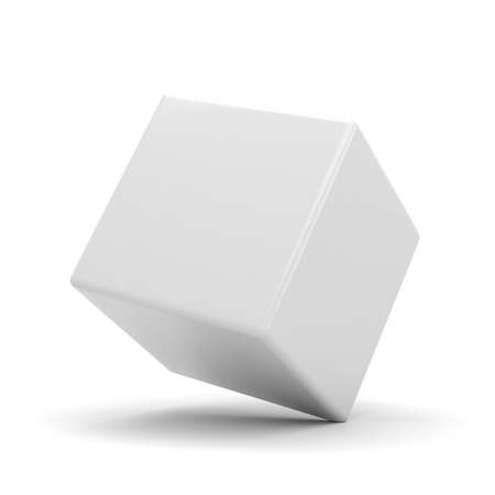 blank box: 3d colorful cubes, on white background