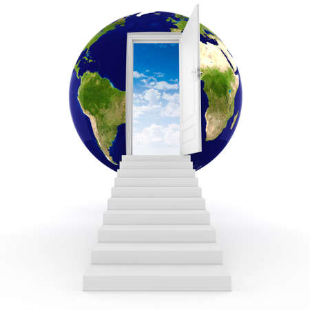 3d earth globe concept photo