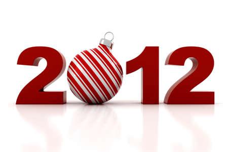 3d - 2012, Happy New Year ! Stock Photo - 10763086