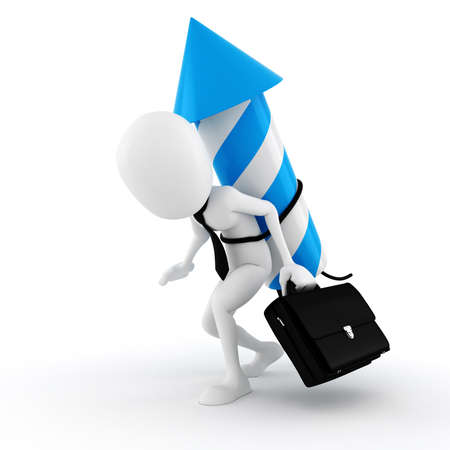3d man starting a new business, concepy Stock Photo - 11275564