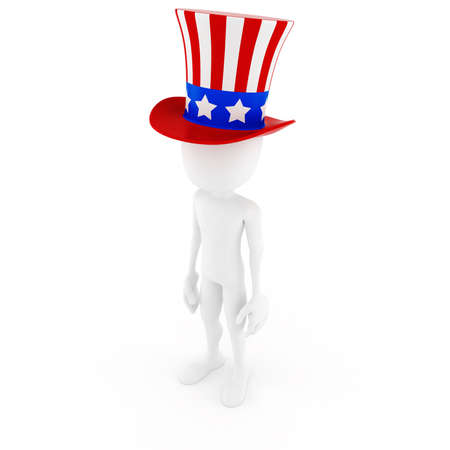 president of the usa: 3d man - independence day, on white background