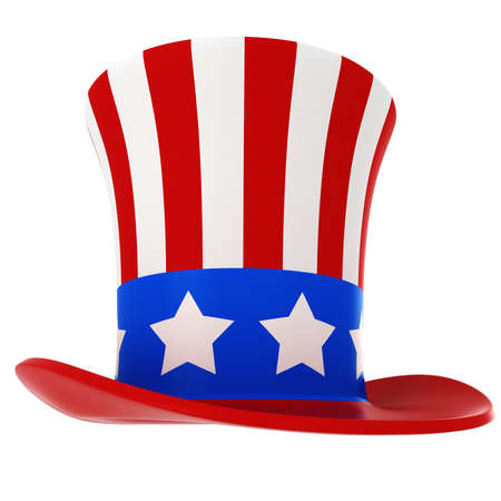 independance: 3d hat - usa independance day, on white background