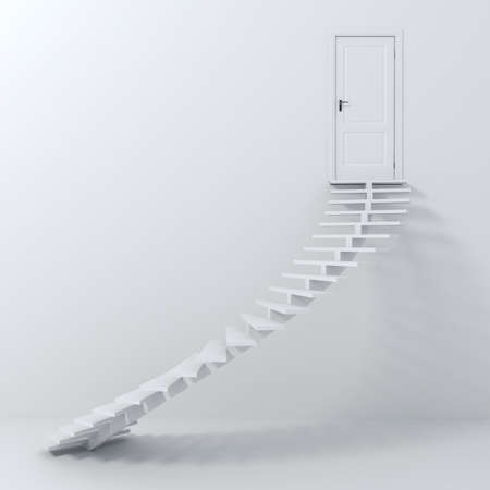 spiral stairs: 3d stairs going up! Stock Photo